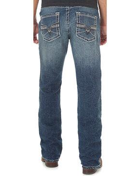 Wrangler Rock 47 Men's Slim Fit Mid Rise Jeans - Boot Cut, Blue, hi-res