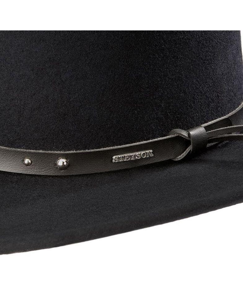 Stetson Black Hawk Crushable Wool Felt Gambler Hat, Black, hi-res