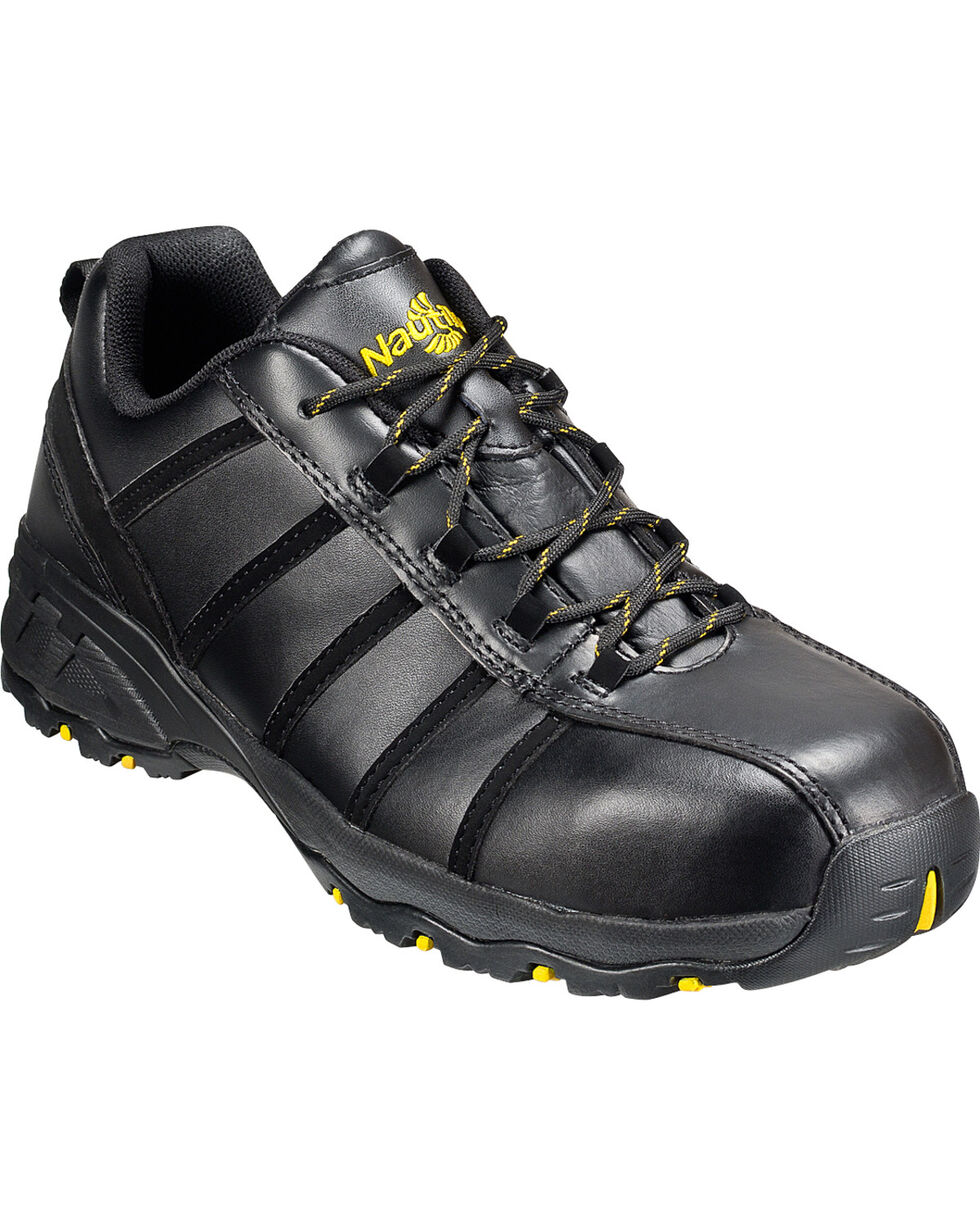 Men's Nautilus Men's Black Metal Free Work Athletic Shoes - Comp Toe , Black, hi-res