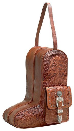 American West Zip-Around Antique Tan Leather Boot Bag, Antique Tan, hi-res