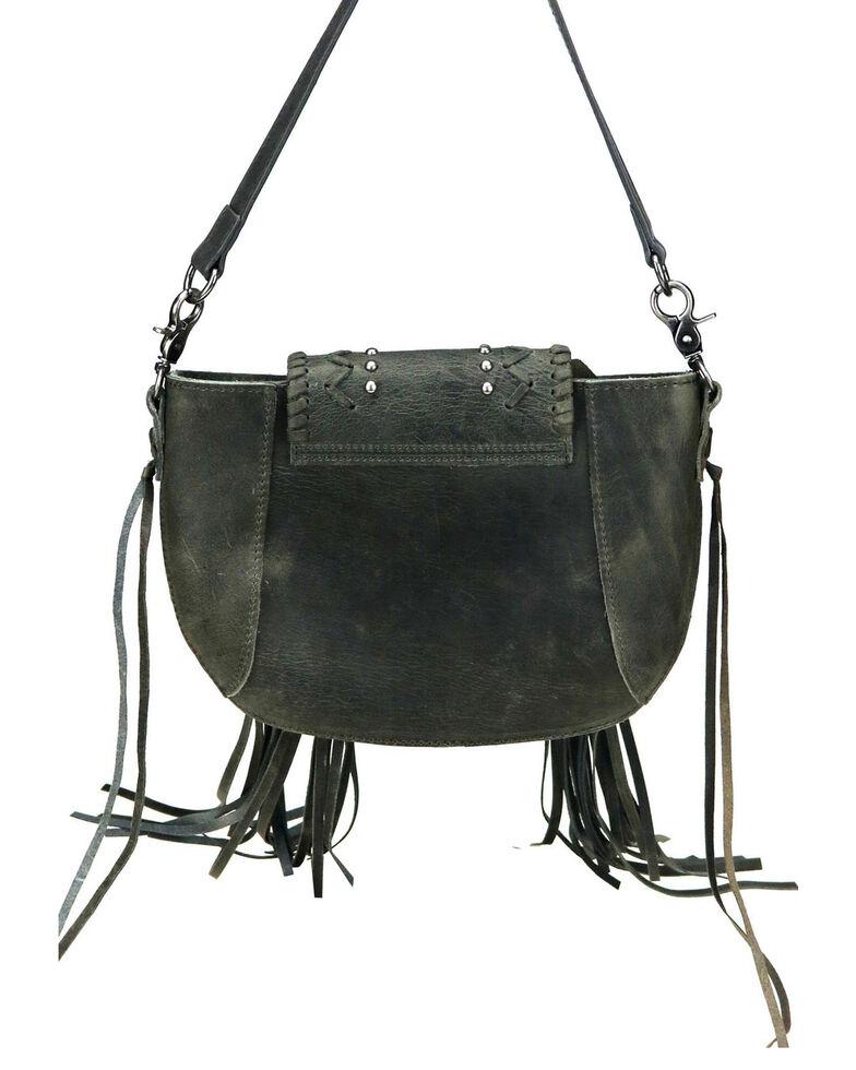 Montana West Women's Shelby Leather Crossbody Bag, Black, hi-res