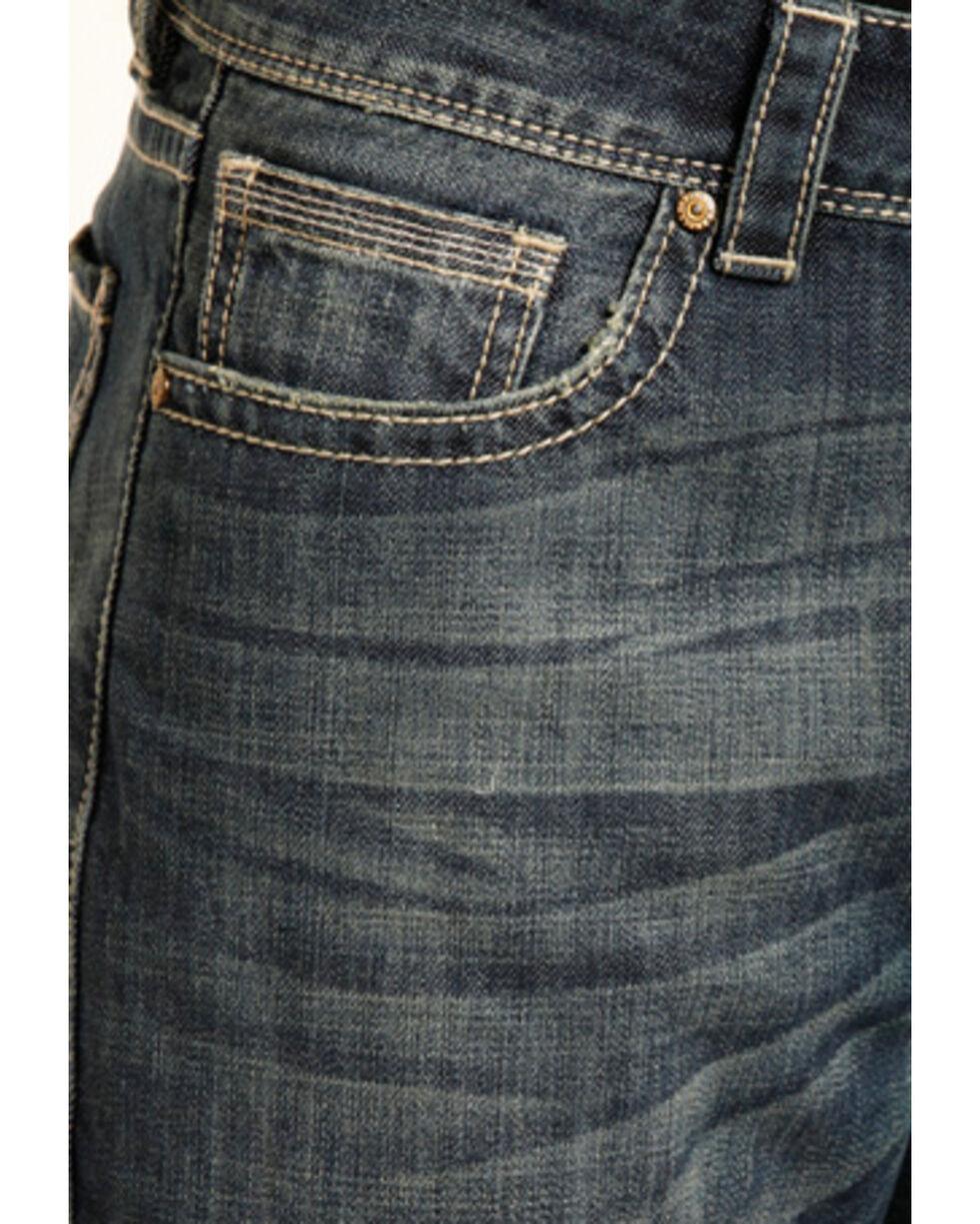 Rock & Roll Cowboy Men's Double Barrel Boot Jeans - Boot Cut , Blue, hi-res