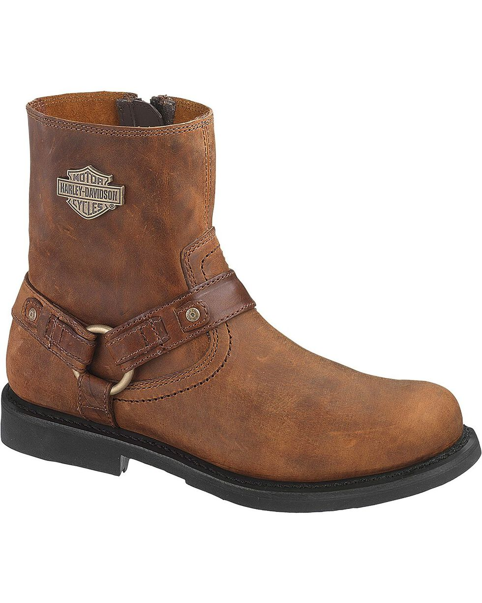 Harley Davidson Scout Men's Boots - Round Toe, Brown, hi-res