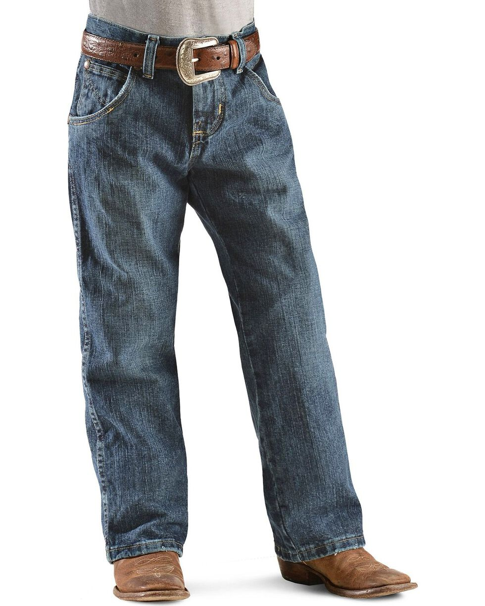 Wrangler Boys' Retro Relaxed Fit Straight Leg Jeans - 8-16, Denim, hi-res
