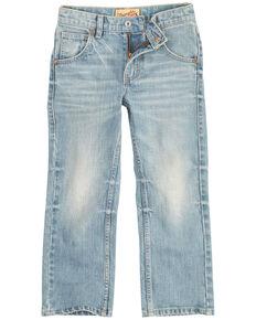 Wrangler 20X Toddler Boys' Vintage Light Wash Slim Bootcut Jeans  , Light Blue, hi-res