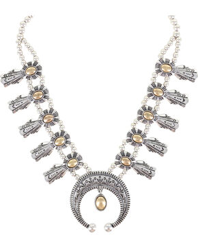 Shyanne® Women's Crescent Statement Necklace, Silver, hi-res