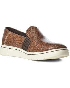 Ariat Women's Ryder Floral Shoes, Brown, hi-res
