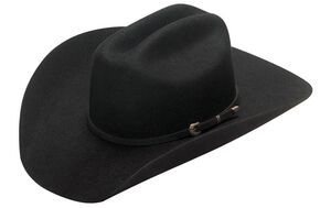 Twister Dallas 2X Wool Cowboy Hat, Black, hi-res