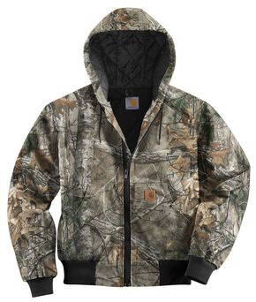 Carhartt Quilted Flannel Lined Camo Active Jacket, Camouflage, hi-res