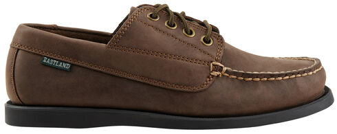 Eastland Men's Bomber Brown Falmouth Camp Mocs, Brown, hi-res