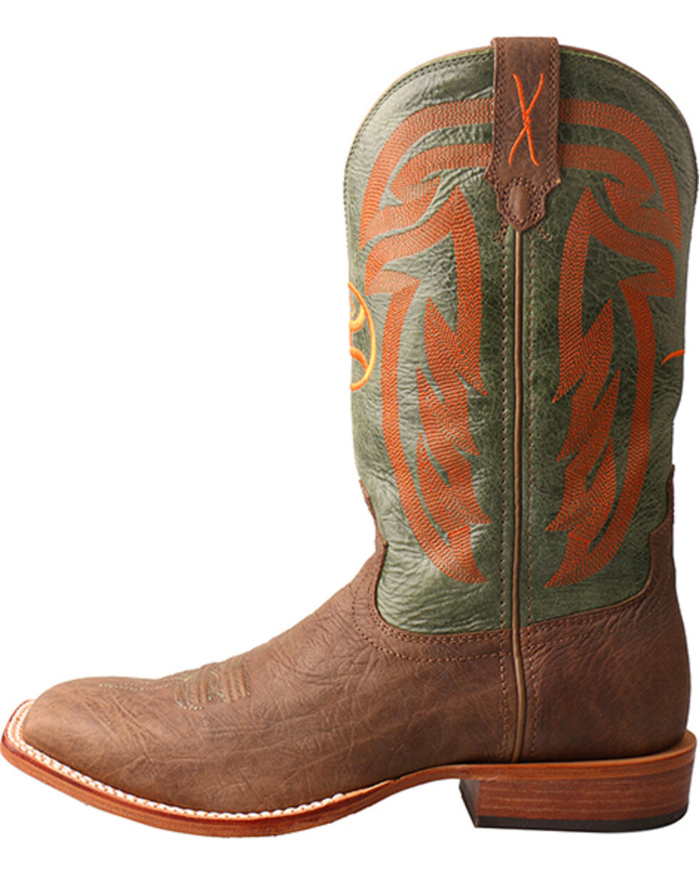 Twisted X Men's Brown Hooey Cowboy Boots - Wide Square Toe , Brown, hi-res