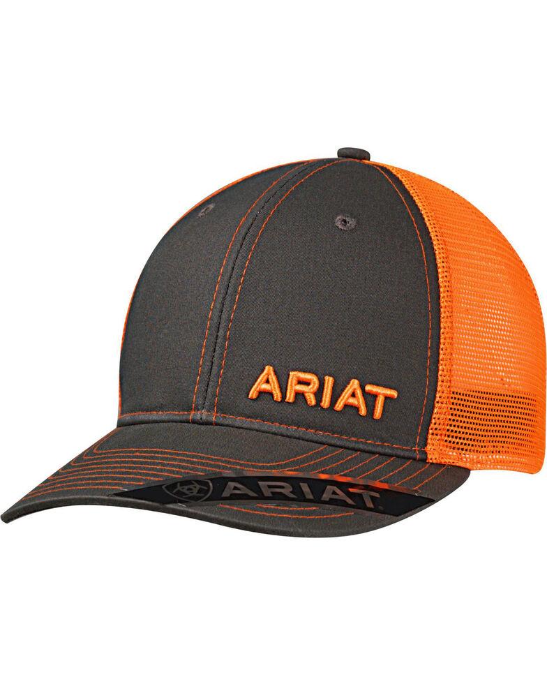 Ariat Men's Offset Baseball Cap , Orange, hi-res