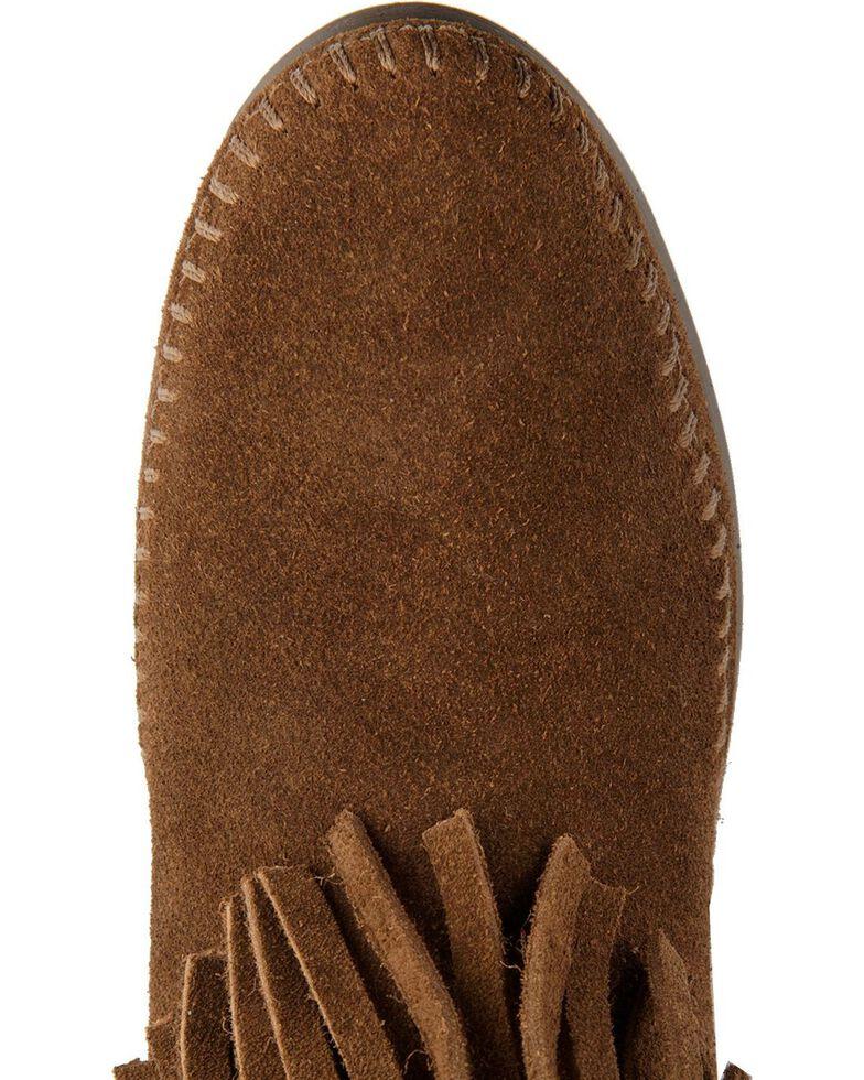 Minnetonka Tall Fringed Boots, Dusty Brn, hi-res