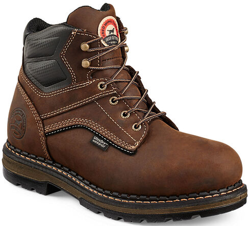 "Red Wing Irish Setter Men's Ramsey 6"" Work Boots - Soft Round Toe  , Brown, hi-res"