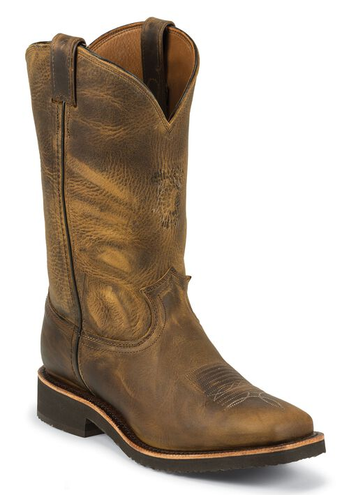 Chippewa Crazyhorse Pull-On Work Boots - Square Toe, Sand, hi-res