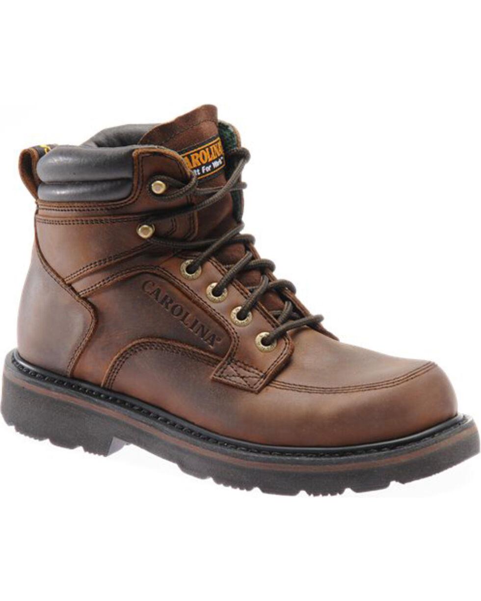 "Carolina Men's 6"" Scope Work Boots - Steel Toe , Brown, hi-res"