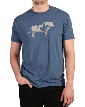 Cody James Men's Bull Bucking T-Shirt, Black/blue, hi-res