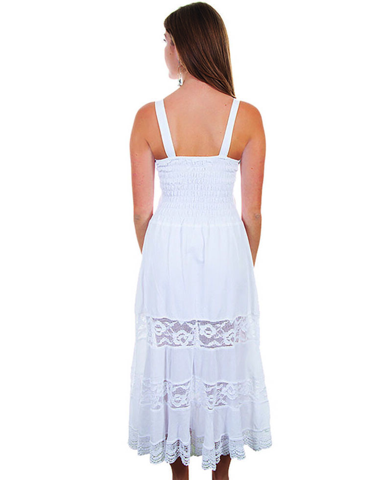 e1925165 Zoomed Image Cantina by Scully Women's White Front Pocket Maxi Dress, White,  hi-res