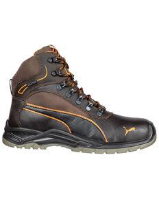 Puma Men's Atomic Work Boots - Steel Toe, Brown, hi-res