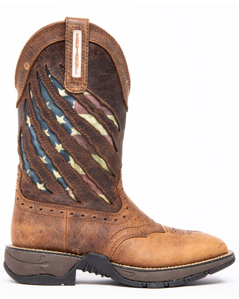 Shyanne Women's Xero Gravity Lite Flag Western Boots - Square Toe, Brown, hi-res