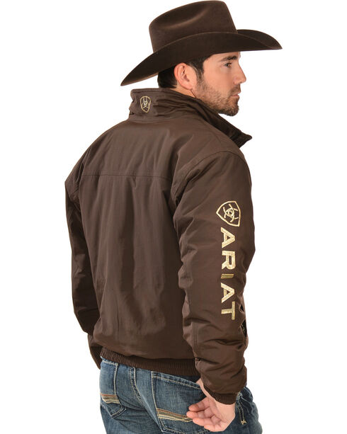 Ariat Brown Insulated Team Logo Jacket, Brown, hi-res