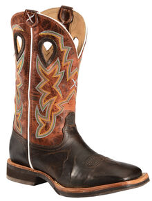Twisted X Men's Horseman Cowboy Boots - Square Toe, Chocolate, hi-res