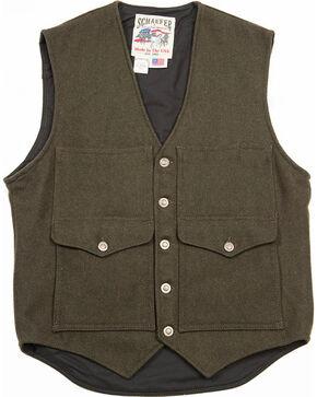 Schaefer Outfitter Men's Loden Scout Melton Wool Vest, Olive, hi-res