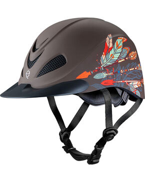 Troxel Black Rebel Arrow Riding Helmet , Black, hi-res