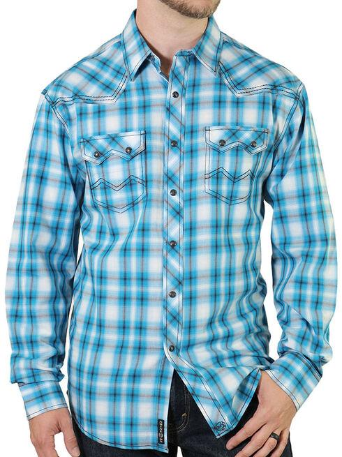 Moonshine Spirit Men's String Fellow Western Shirt, Blue, hi-res