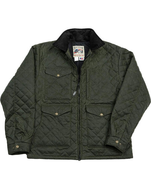 Schaefer Outfitter Men's Loden Blacktail Quilted Rangewax Jacket , Olive, hi-res