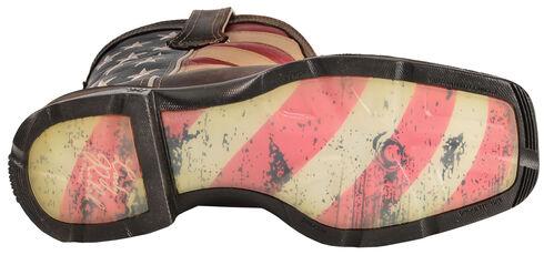 Durango American Flag Flirt Cowgirl Boots - Square Toe, Brown, hi-res