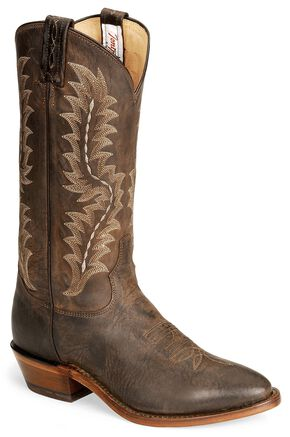 Tony Lama Chocolate Goat Skin Cowboy Boot - Medium Toe, Chocolate, hi-res