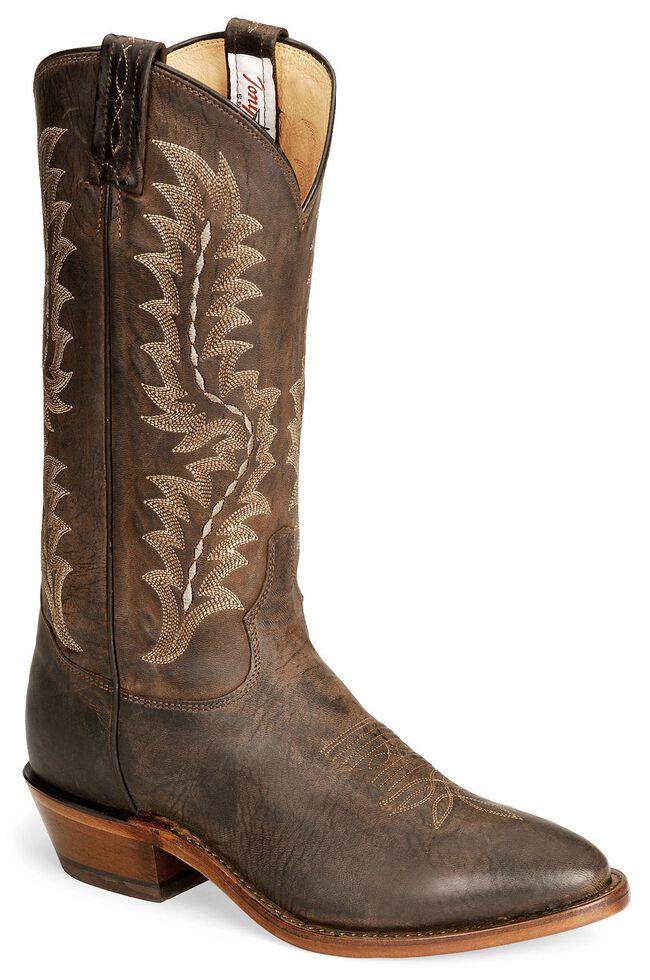 Tony Lama Chocolate Goat Skin Cowboy Boot - Medium Toe, Chocolate, hi-res