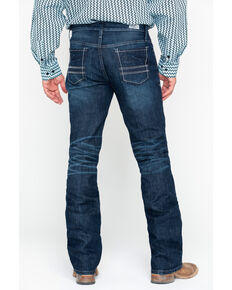 Cinch Men's Ian Dark Slim Bootcut Jeans, Indigo, hi-res