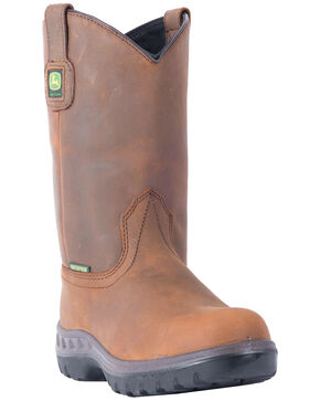 John Deere WCT Waterproof Wellington Work Boots, Tan, hi-res