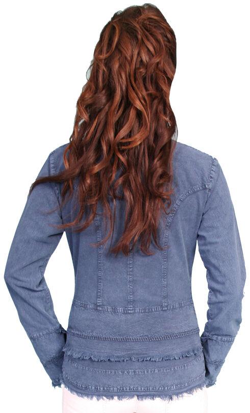 Scully Peruvian Cotton Frayed Edges Top, Dark Blue, hi-res