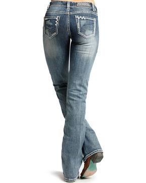 Rock & Roll Cowgirl Women's Medium Wash Mid Rise Jeans - Boot Cut, Medium Blue, hi-res