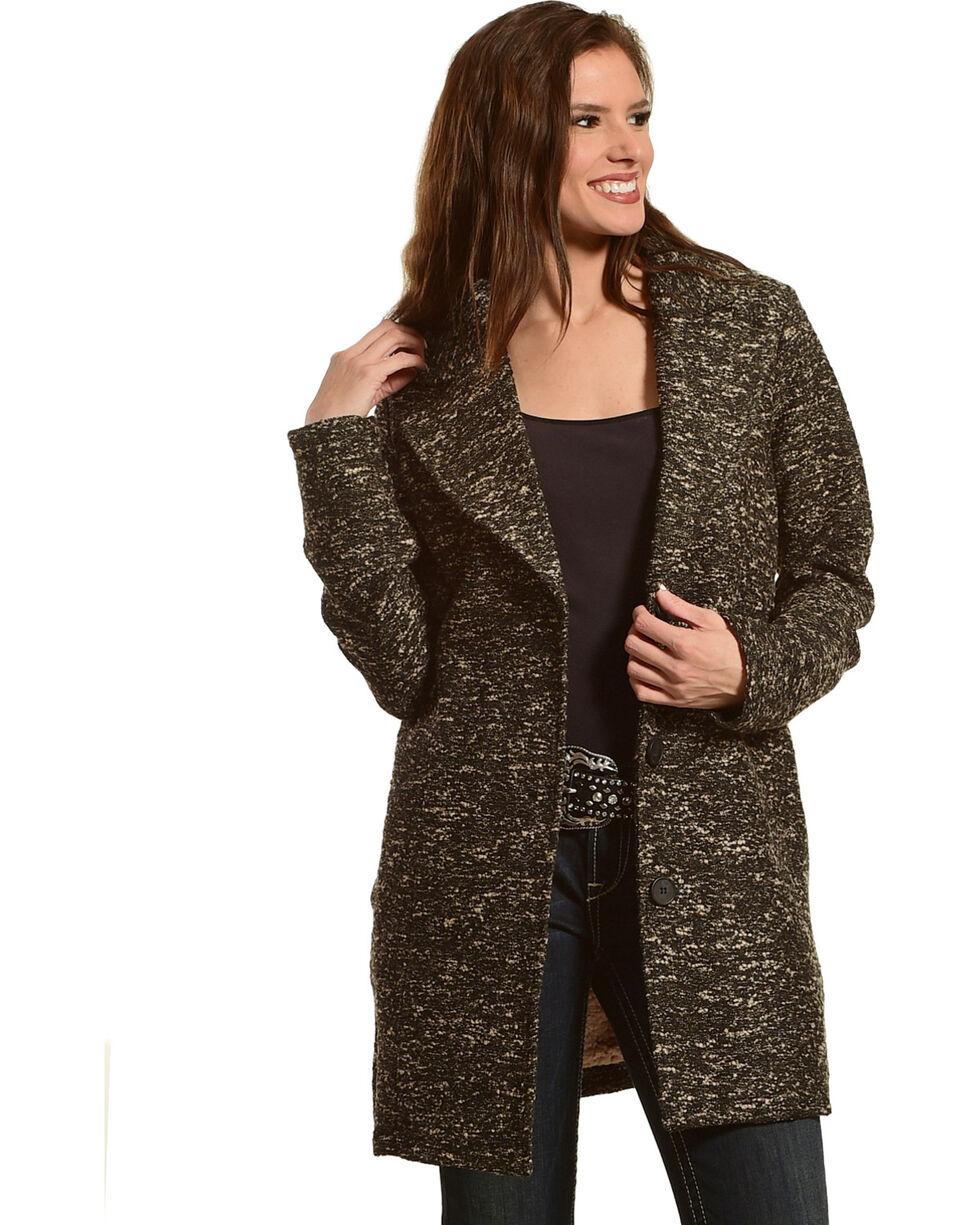Mystree Women's Sherpa Lined Coat, Multi, hi-res