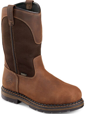 Irish Setter by Red Wing Shoes Men's Ramsey Pull-On Work Boots - Aluminum Toe , Brown, hi-res