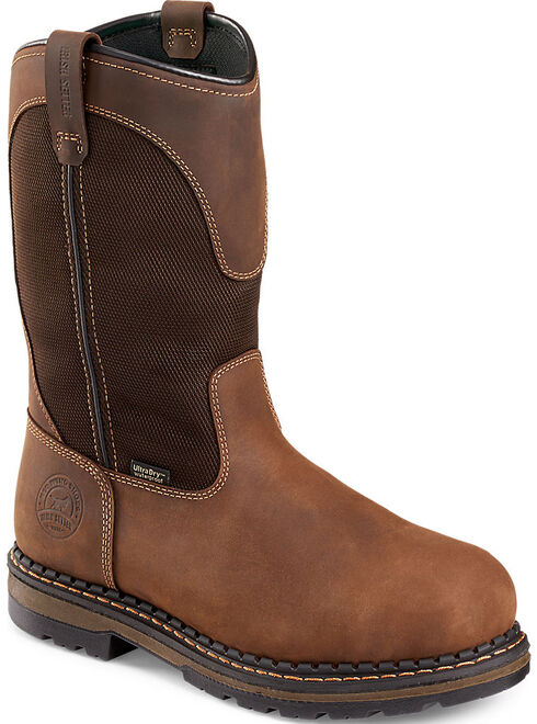 Red Wing Irish Setter Ramsey Pull-On Work Boots - Aluminum Toe , Brown, hi-res