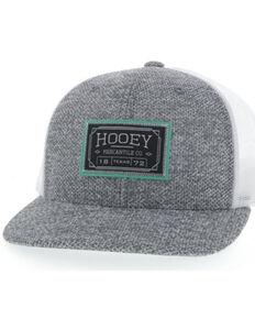 HOOey Men's Grey & White Doc Mesh-Back Ball Cap , Grey, hi-res