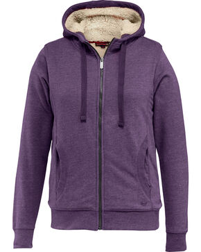 Wolverine Women's Sherpa Lined Hooded Sweatshirt, Grape, hi-res