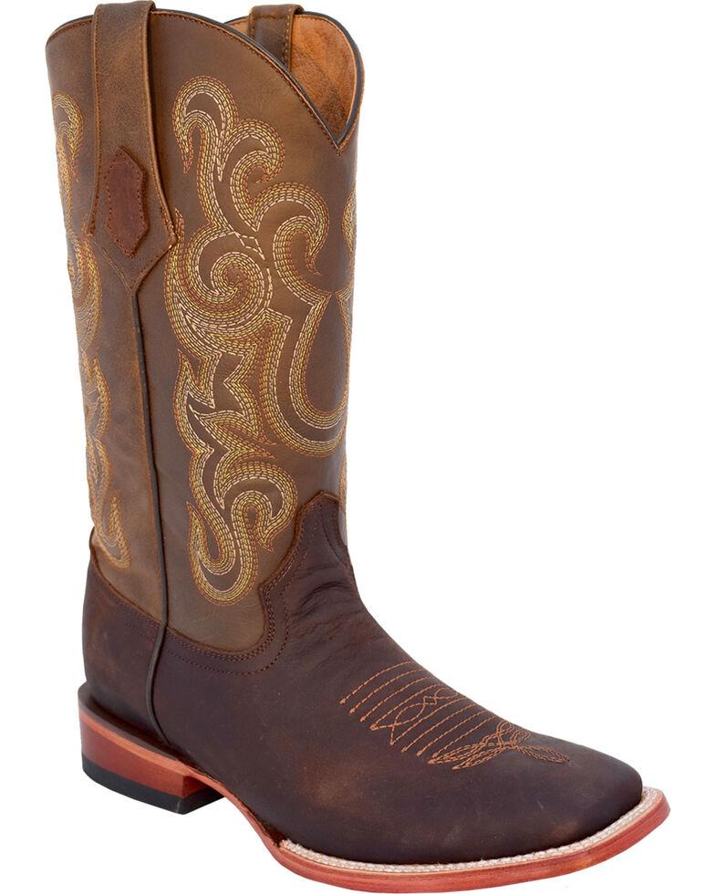 Ferrini Men's Maverick Western Boots - Square Toe, Chocolate, hi-res