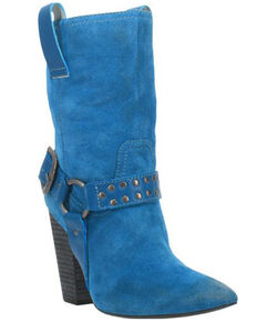 Dingo Women's Blue Dancing Queen Fashion Booties - Pointed Toe, Blue, hi-res