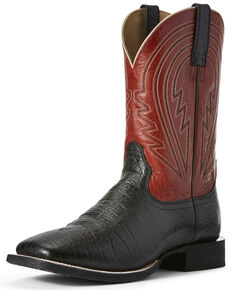Ariat Men's Black Circuit Herd Western Boots - Wide Square Toe, Black, hi-res