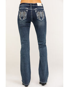 Grace in LA Women's Medium Wing Bootcut Jeans, Blue, hi-res