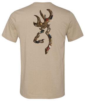 Browning Men's Waterfowl Buckmark Dark Grey Short Sleeve Tee, Grey, hi-res