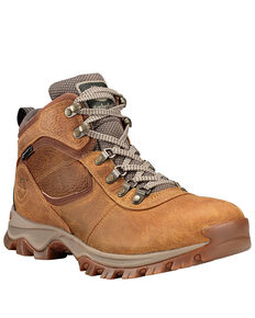 Timberland Men's Mt. Maddsen Waterproof Hiking Boots - Soft Toe, Tan, hi-res