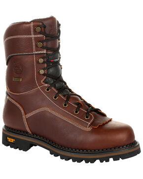 Georgia Boot Men's AMP LT Waterproof Insulated Logger Boots - Composite Toe, Brown, hi-res