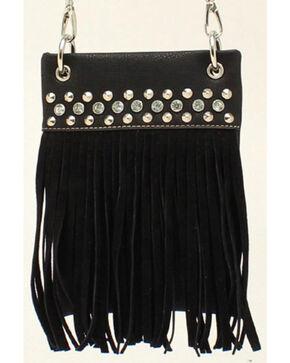 Blazin Roxx Women's Fringe Crossbody Bag, Black, hi-res